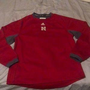 Adidas Large Nebraska Cornhuskers Pullover Jacket
